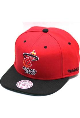 Mitchell & Ness Mıamı Heat Siyah Kırmızı Snapback Cap