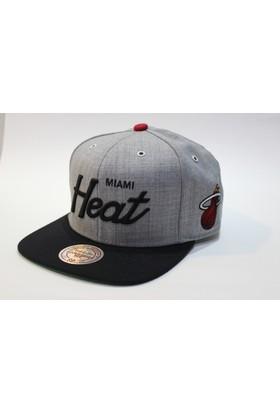 Mitchell & Ness Miami Heat Füme Snapback Cap