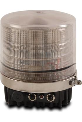 İleritrafik Silindirik İkaz Lambası Vertex 103 Beyaz