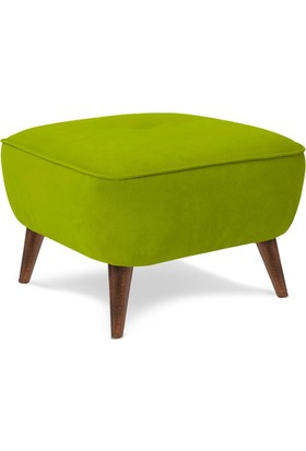 Kuer Kare Puf - Yeşil