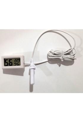 Curetech Köşe Teknoloji Sıcaklık Nem Ölçer Higrometre Problu Mini Ctd 12E Dijital Termometre