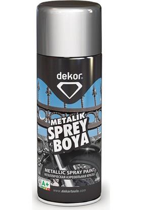 Dekor Metalik Gri Sprey Boya 400 ml