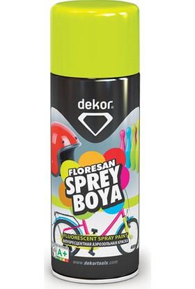 Dekor Floresan Sarı Sprey Boya 400 ml