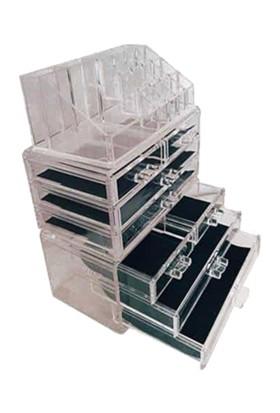 Enissimo Makyaj Düzenleyici Organizeri 8 çekmeceli Şeffaf akrilik kutu