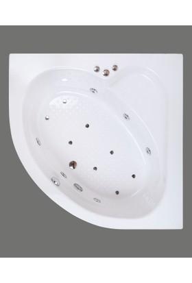 Shower Oval Mini Jakuzi & Hidromasaj 130*130 - Ekstra Sistem