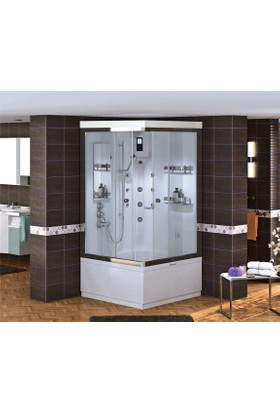 Shower Malın Kare Compact 90*90 - Sistem - Iıı - - İç Duvar Beyaz