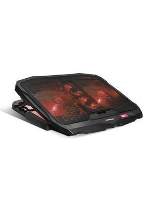 Addison Rampage Ad-Rc4 Siyah 2*125Mm+2*70Mm Işıklı Fan 15-17 Notebook Soğutucu Stand