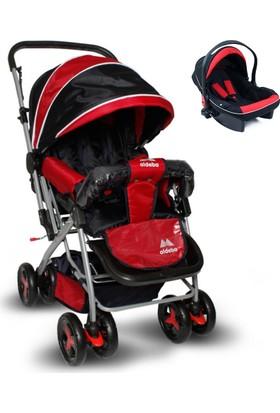 Aldeba Çift Yönlü Travel Sistem Bebek Arabası - Kırmızı