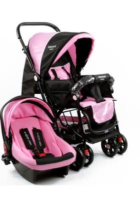 Diamond Baby Seyahat Sistem Bebek Arabası Pembe
