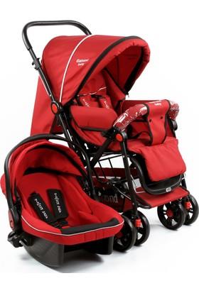 Diamond Baby Seyahat Sistem Bebek Arabası Kırmızı