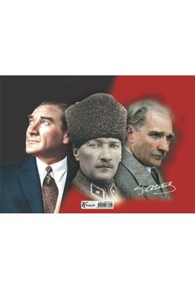 Puzz (35x50 cm) 150 Parça Çerçeveli Atatürk Yapboz