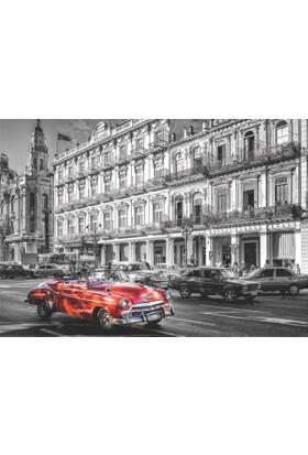 Puzz (68x48 cm) 1000'li Yapboz Kırmızı Araba