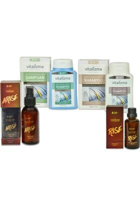 Vitalizma Arise/Rise ve Vitalizma Anti Hair Loss ( Kremli ve Kremsiz ) 4'lü Set