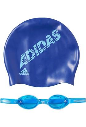 Adidas Ab6071 Sw Kids Pack Boblue/Brcyan/Pobldn Çocuk Yüzücü Seti Ab6071Add