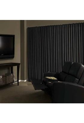 Brillant Blackout Karartma Güneşlik Perde Pilesiz V - 6 Koyu Gri - 100x250 cm