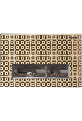 Creavit Design Altın Desenli Cam Kumanda Paneli