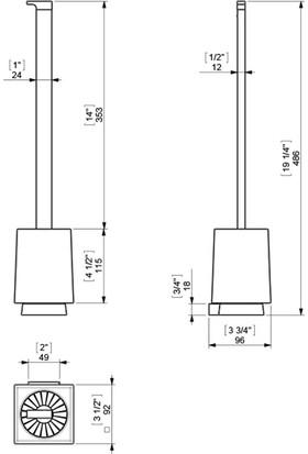 Sonia S7 Klozet Fırçası
