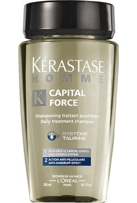 Kerastase Homme Capital Force-Kepeğe Karşi Etkili Şampuan 250Ml