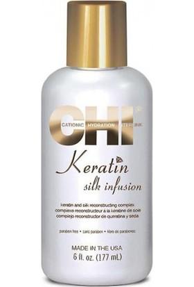 Chı Keratin Silk Infusion Yıpranmış Saçlar İçin Onarıcı Serum 177Ml