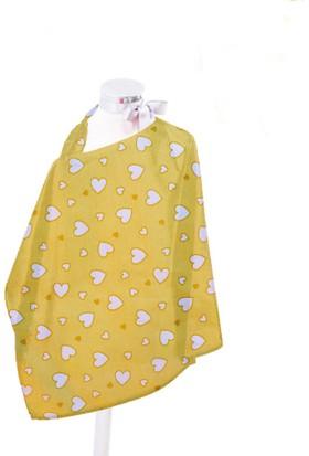 Hupim Sarı Emzirme Önlüğü Bebek Emzirme Örtüsü Mama Önlüğü