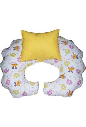 Hupim Sarı Emzirme Yastığı Bebek Oturma Minderi Yastık