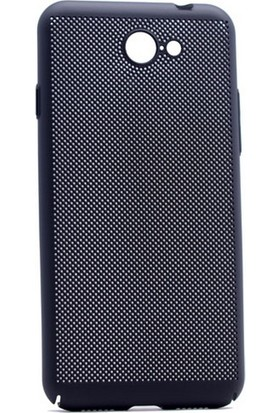 Case 4U General Mobile GM6 Delikli İnce Kapak (kenar Korumalı) Siyah