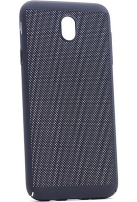 Case 4U Samsung Galaxy J730 ( J7 2016 ) Delikli İnce Kapak (kenar Korumalı) Siyah