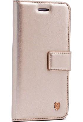 Case 4U Samsung Galaxy J730 Kapaklı Kılıf Altın