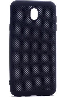 Case 4U Samsung Galaxy J530 ( J5 2017 ) Delikli İnce Kapak Siyah