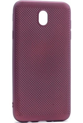 Case 4U Samsung Galaxy J530 ( J5 2017 ) Delikli İnce Kapak Mor