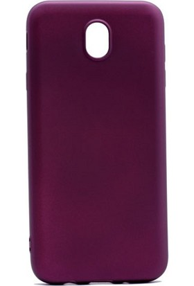 Case 4U Samsung Galaxy J730 Pro Premium Mat Silikon Kılıf Bordo*