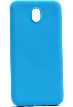 Case 4U Samsung Galaxy J730 Pro Premium Mat Silikon Kılıf Mavi*