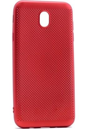Case 4U Samsung Galaxy J730 Delikli İnce Kapak Kırmızı*