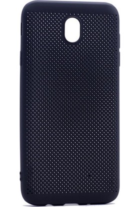 Case 4U Samsung Galaxy J730 ( J7 2016 ) Delikli İnce Kapak Siyah