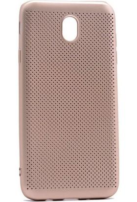 Case 4U Samsung Galaxy J730 Delikli İnce Kapak Altın*