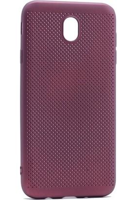 Case 4U Samsung Galaxy J730 Delikli İnce Kapak Mor*