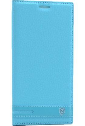 Case 4U Samsung Galaxy J730 Pro Kapaklı Kılıf Mavi*