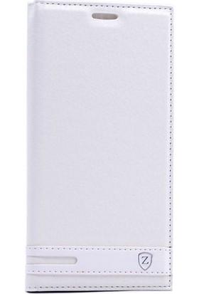 Case 4U Samsung Galaxy J730 Pro Kapaklı Kılıf Beyaz*