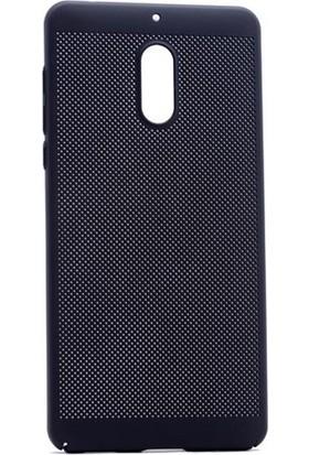 Case 4U Nokia 6 Delikli İnce Kapak (kenar Korumalı) Siyah