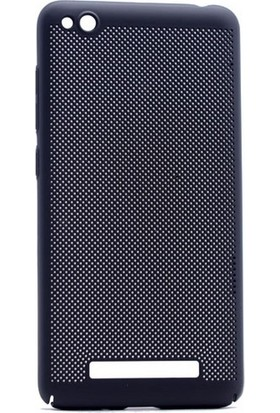 Case 4U Xiaomi Redmi 4a Delikli İnce Kapak (kenar Korumalı) Siyah