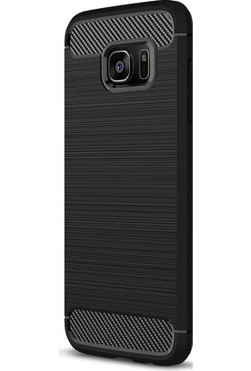 Case 4U Samsung Galaxy S7 Edge Korumalı Arka Kapak Room Siyah