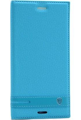 Case 4U Sony Xperia XZ Premium Gizli Mıknatıslı Kapaklı Kılıf Turkuaz