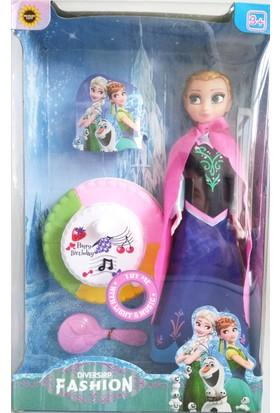 Aydın Çocuk Karlar Ülkesi Elsa Sesli Işıklı Pastalı ve Anna Sesli Işıklı Pastalı Kız Oyuncakları