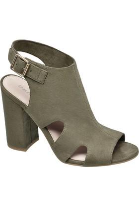 Graceland Haki Kalın Topuk Sandalet