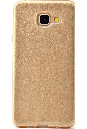 Gpack Samsung Galaxy A5 2017 Kılıf Shining Silikon Case Gold