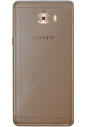 Gpack Samsung Galaxy C9 Pro Kılıf 0.2 mm Silikon Case Antrasit