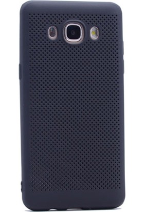 Gpack Samsung Galaxy J2 Prime Kılıf Delikli Silikon Case Siyah