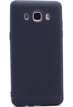 Gpack Samsung Galaxy J7 2016 Kılıf Delikli Silikon Case Siyah