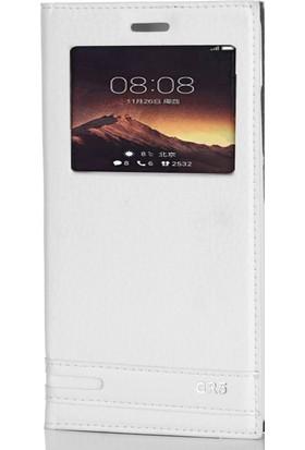 Gpack Huawei Gr5 2017 Kılıf Gizli Mıknatıslı Elite Case Beyaz