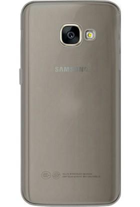 Gpack Samsung Galaxy J3 2017 Kılıf 0.2 mm Silikon Arka Kapak Antrasit